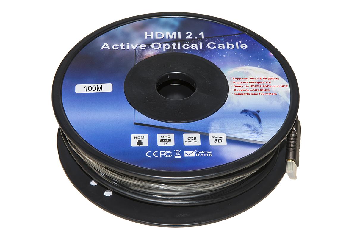 Cavo hdmi 2.1 fibra ottica aoc mt 100