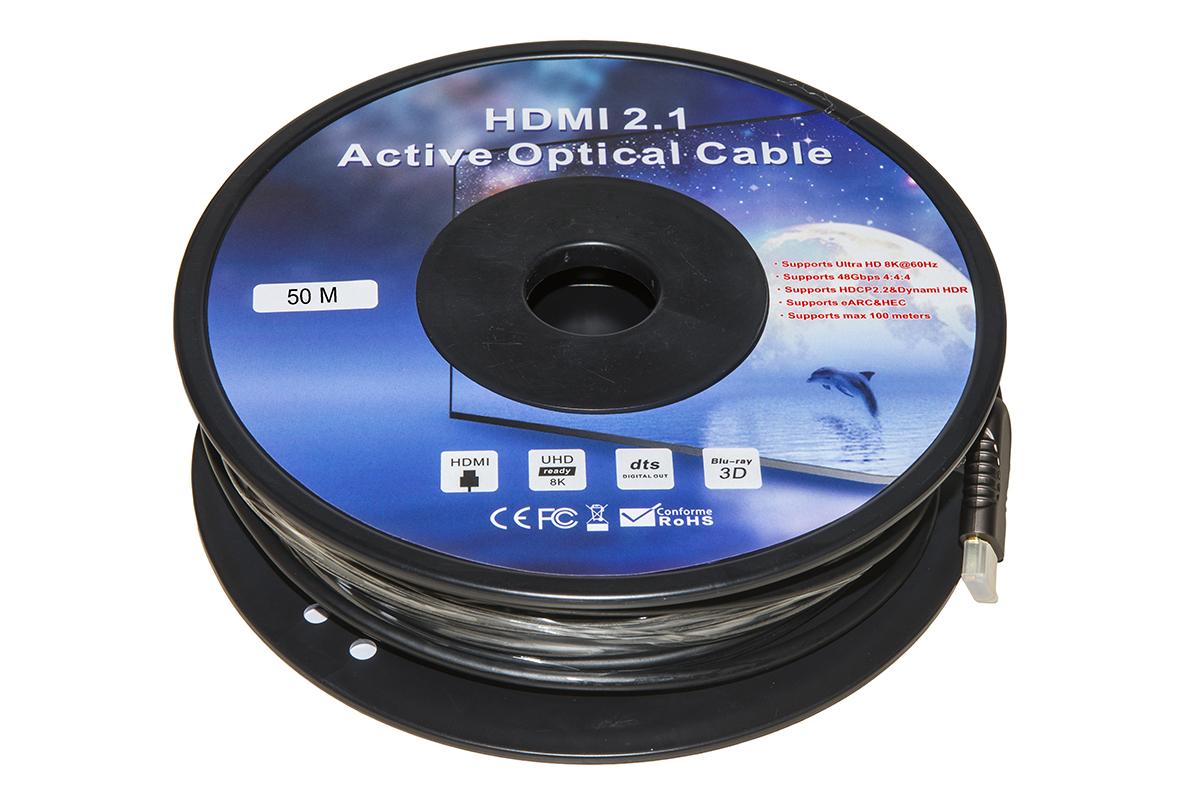 Cavo hdmi 2.1 fibra ottica aoc mt 50
