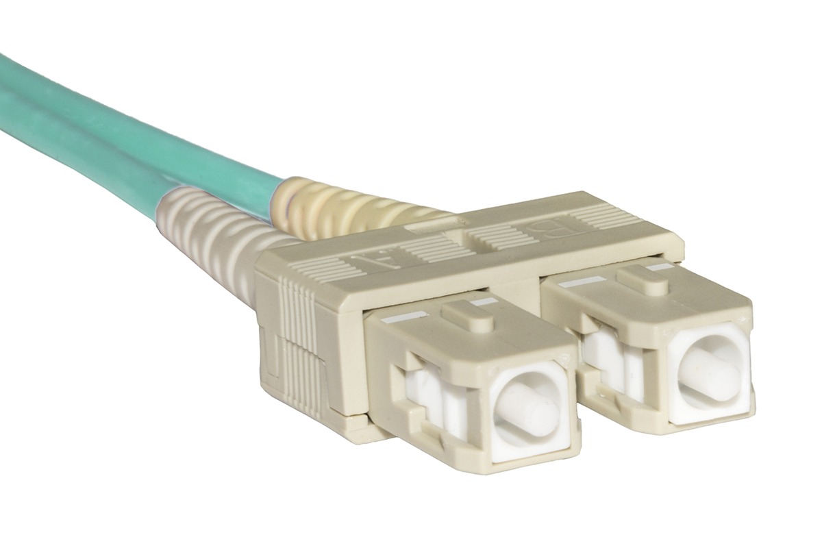 Cavo fibra ottica lc a sc multimode duplex om3 50/125 mt.80