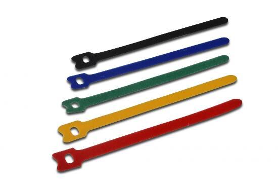 Confezione 50 fascette velcro 12x150mm in 5 colori diversi