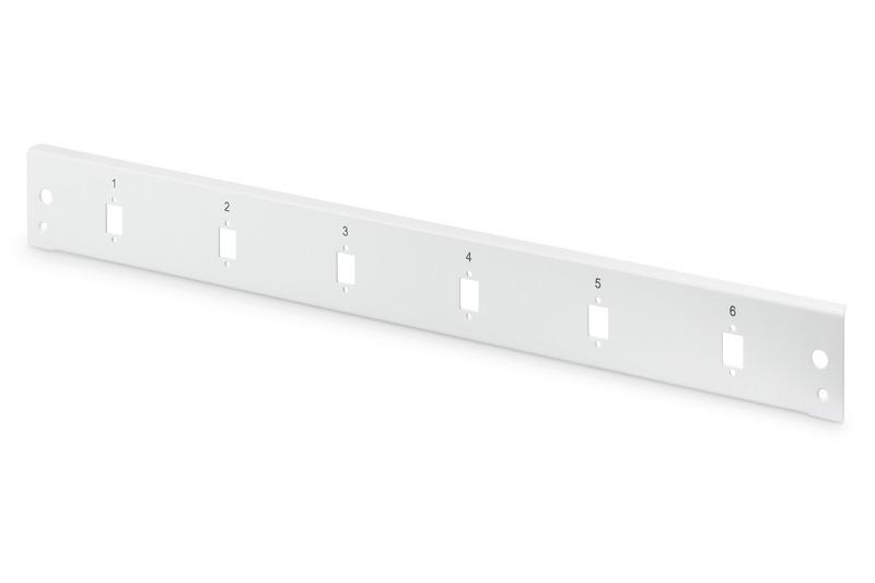 Pannello frontale fibra ottica 1u 6x sc sx, lc dx verticale grigio ral 7035 digitus