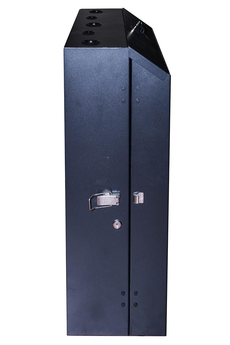 Armadio rack 19″ da muro verticale 5u misure mm 650x730x248 colore nero per server profondi fino a 58 cm, con montanti regolabili