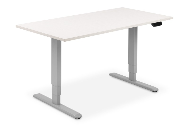 Supporto tavolo alzo elettrico 63-125 cm grigio/argento