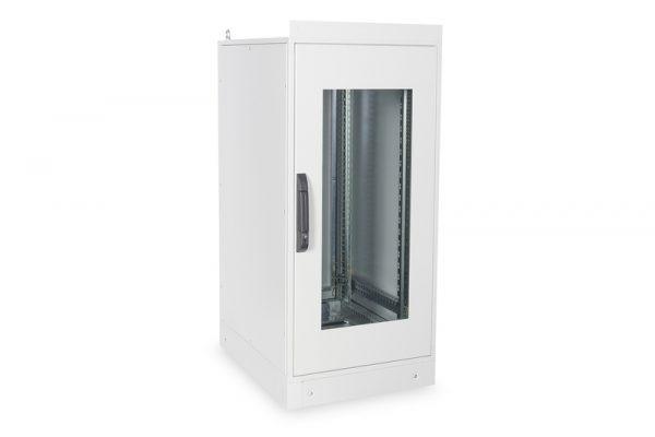 Armadio 24 unitÀ 19″ per reti misure (a)1300 x (l)600 x (p)800 mm. colore grigio chiaro da esterno ip55