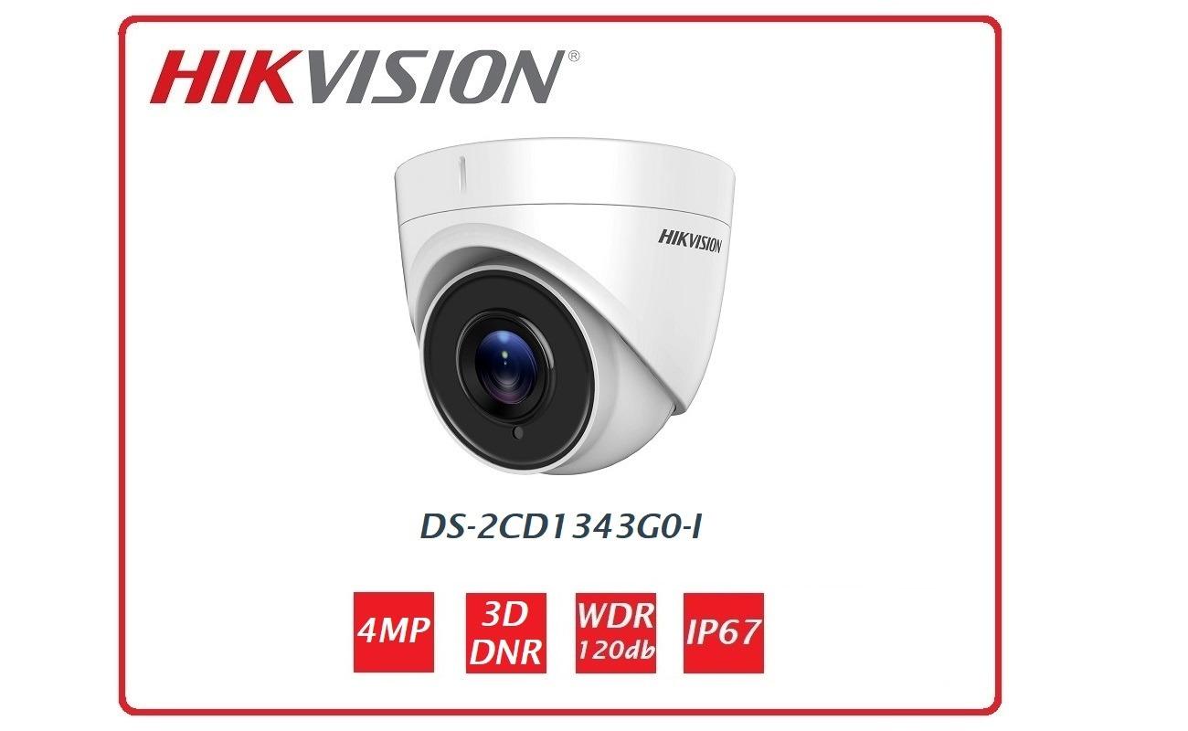 Telecamera IP Dome Hikvision DS-2CD1343G0-I 4MP
