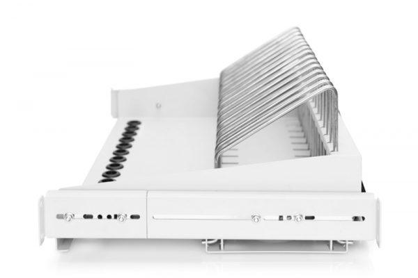 Mensola estraibile per tablet, portatili, smartphone 175x483x340 mm, grigio (ral 7035)