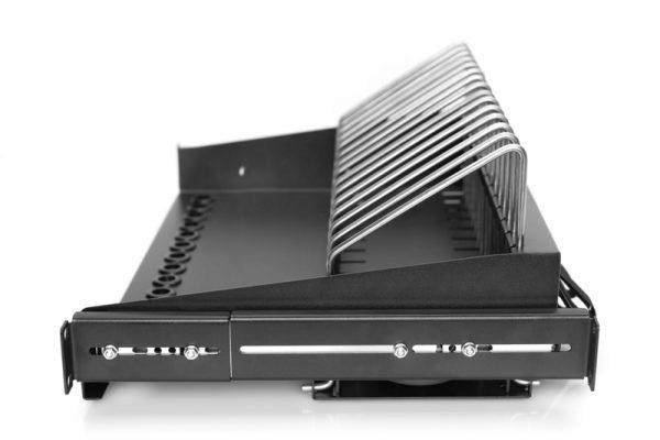 Mensola estraibile per tablet, portatili, smartphone 175x483x340 mm, nero (ral 9005)