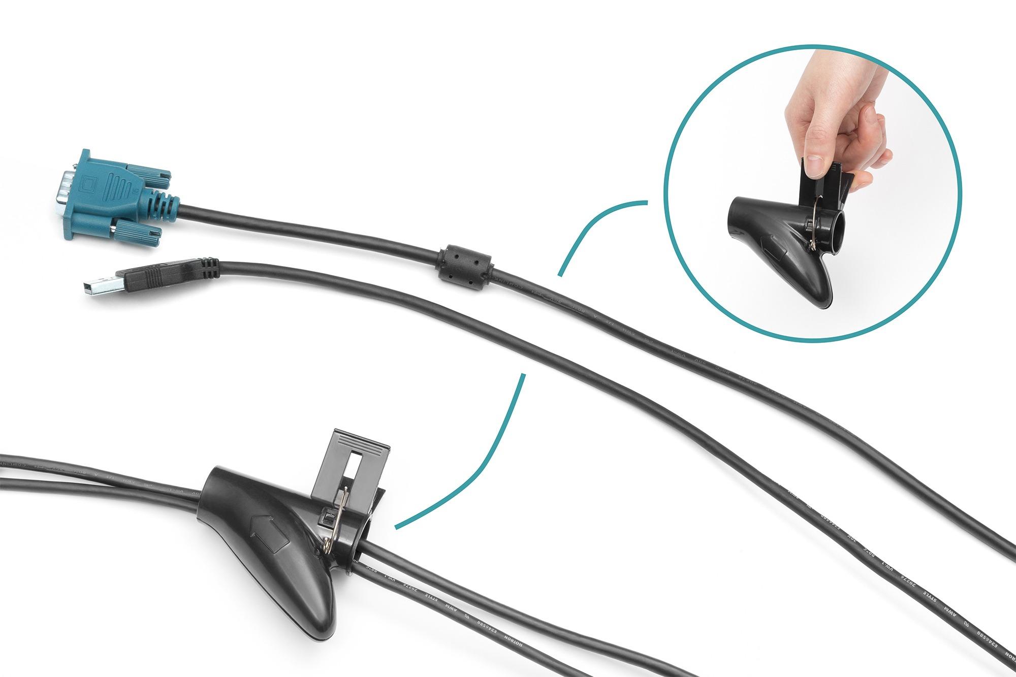 Tubo per cavi flessibile a spirale con atttrezzo per l'inserimento 5 mt digitus