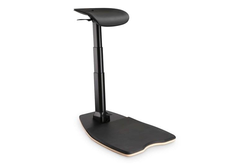 Digitus sedia ergonomica per stare in piedi, seduti e reclinati, regolabile in altezza con tappetino anti-affaticamento