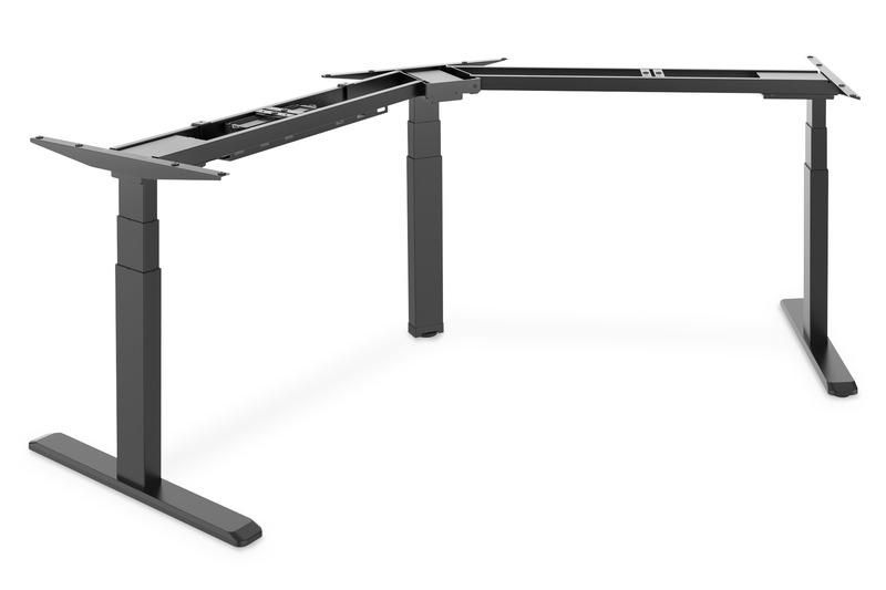 Struttura per tavolo di altezza regolabile, 3 gambe 120 gradi, nero