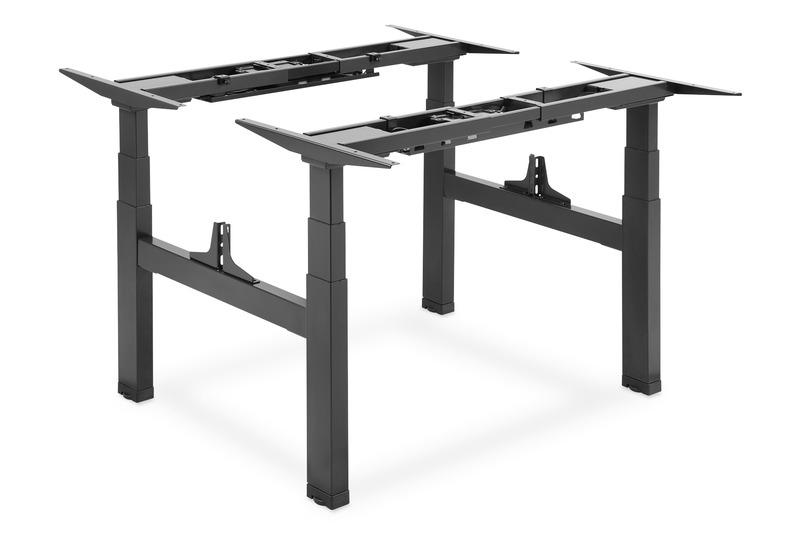 Digitus struttura per tavolo doppio con altezza regolabile elettricamente, 4 gambe, 2 postazioni di lavoro