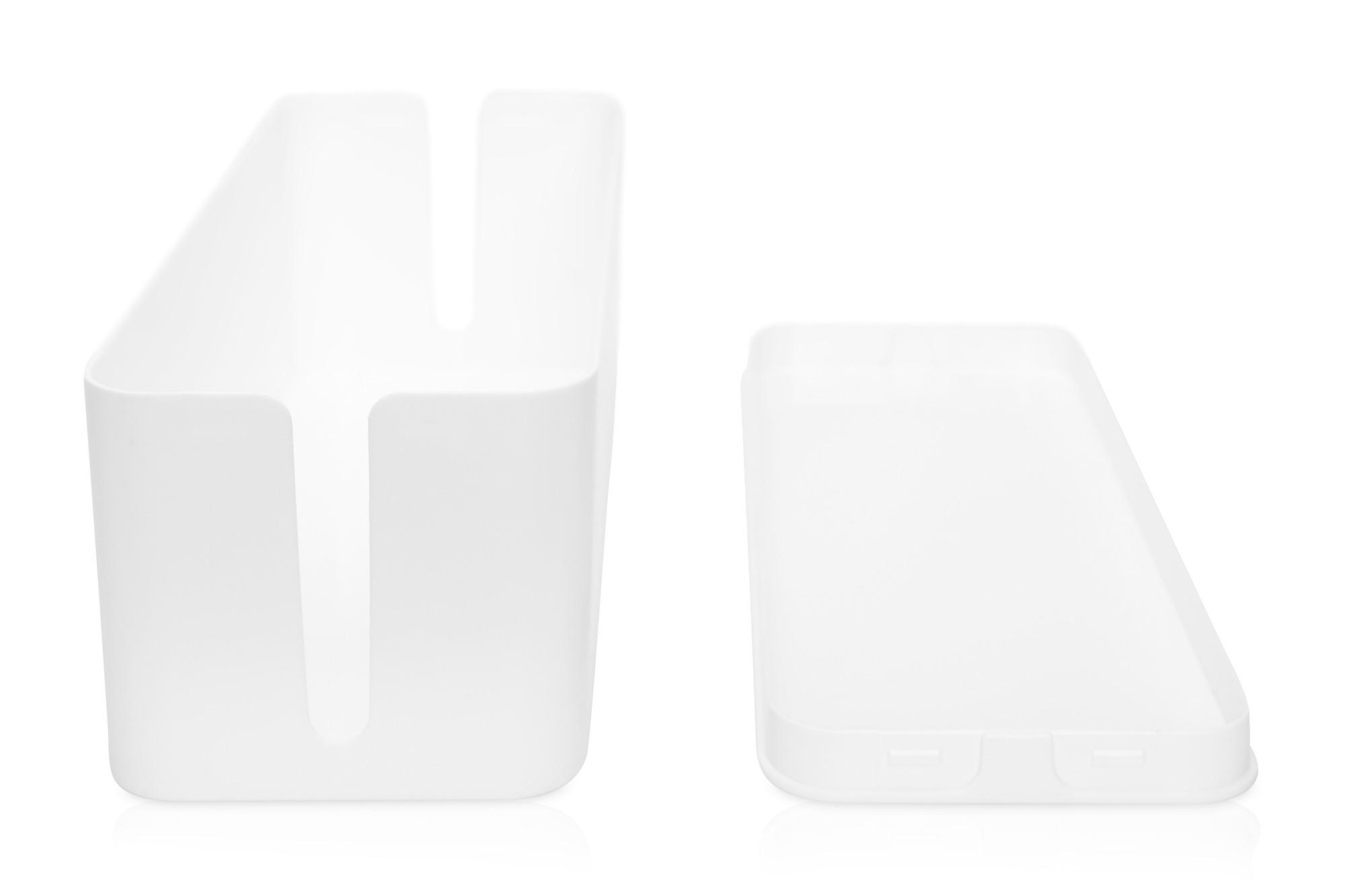 Scatola gestione cavi colore bianco dimensioni 40,6 x prof. 15,6 x alt. 13,4 cm