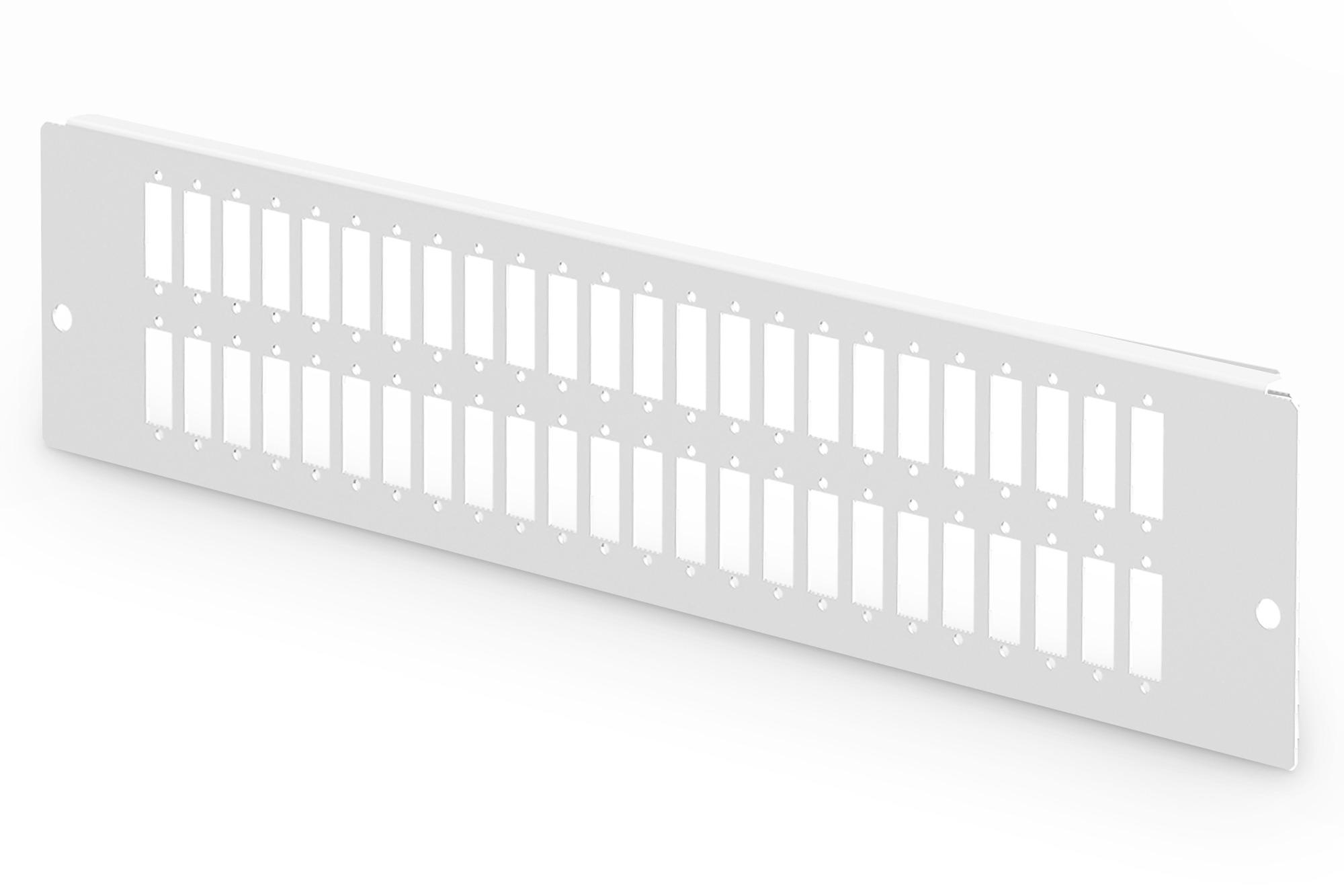 Piastra adattatore per dn-96800l-2, grigio (ral 7035) 48 sc-dx, lc-qd