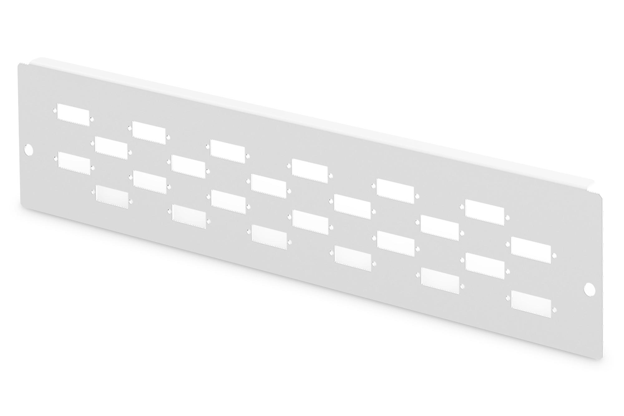 Piastra adattatore per dn-96800m-2, grigio (ral 7035) 12x sc-dx, lc-qd