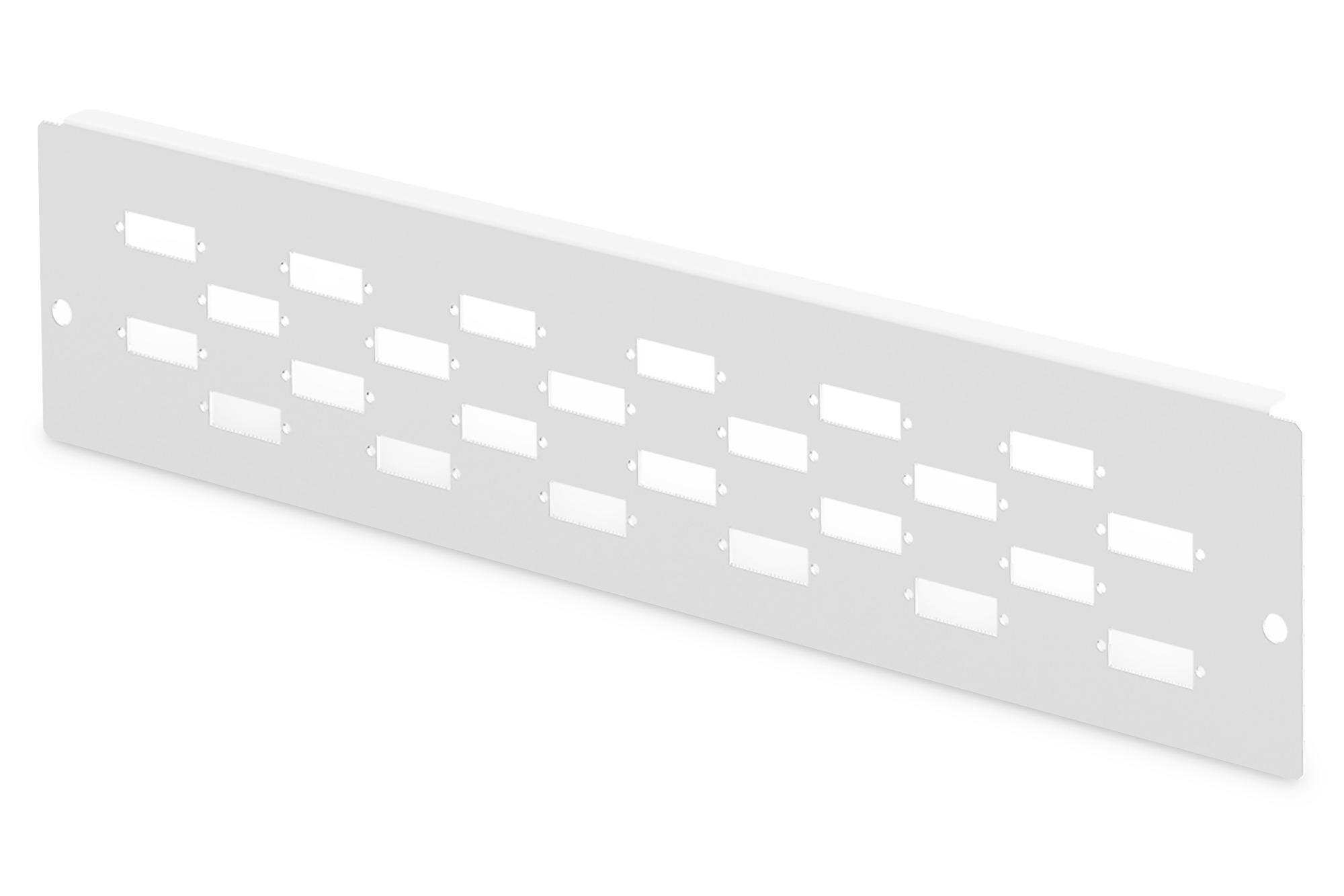 Piastra adattatore per dn-96800l-2, grigio (ral 7035) 24 sc-dx, lc-qd