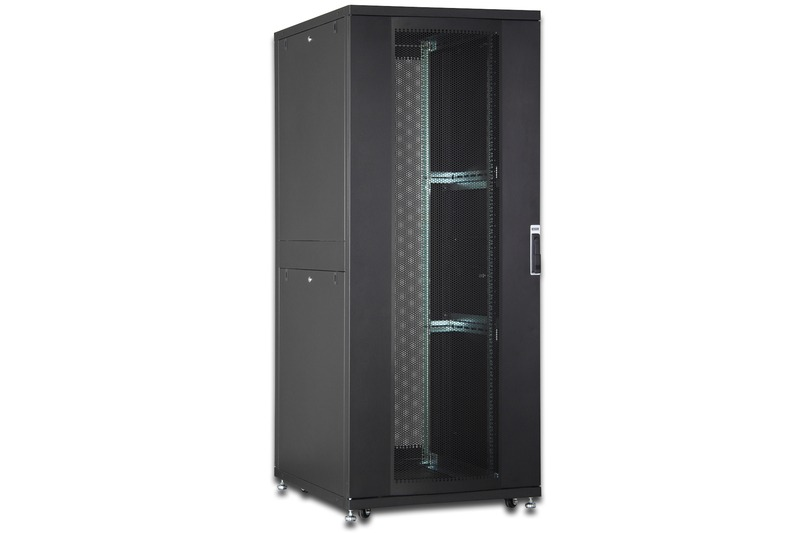 Armadio server serie unique 36u 800 x 800 mm (l x p) colore nero