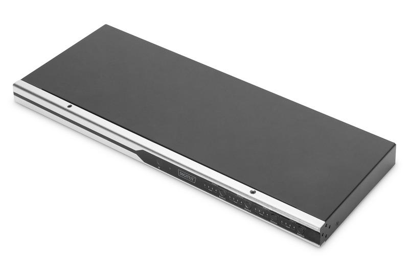 Digitus switch matrix 4k hdmi®, 4×4, 19″