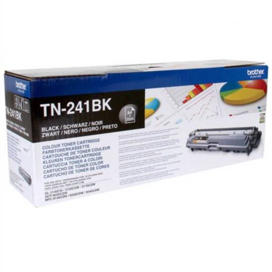 Toner brother originale hl3150 2500 pagine tn-241bk nero