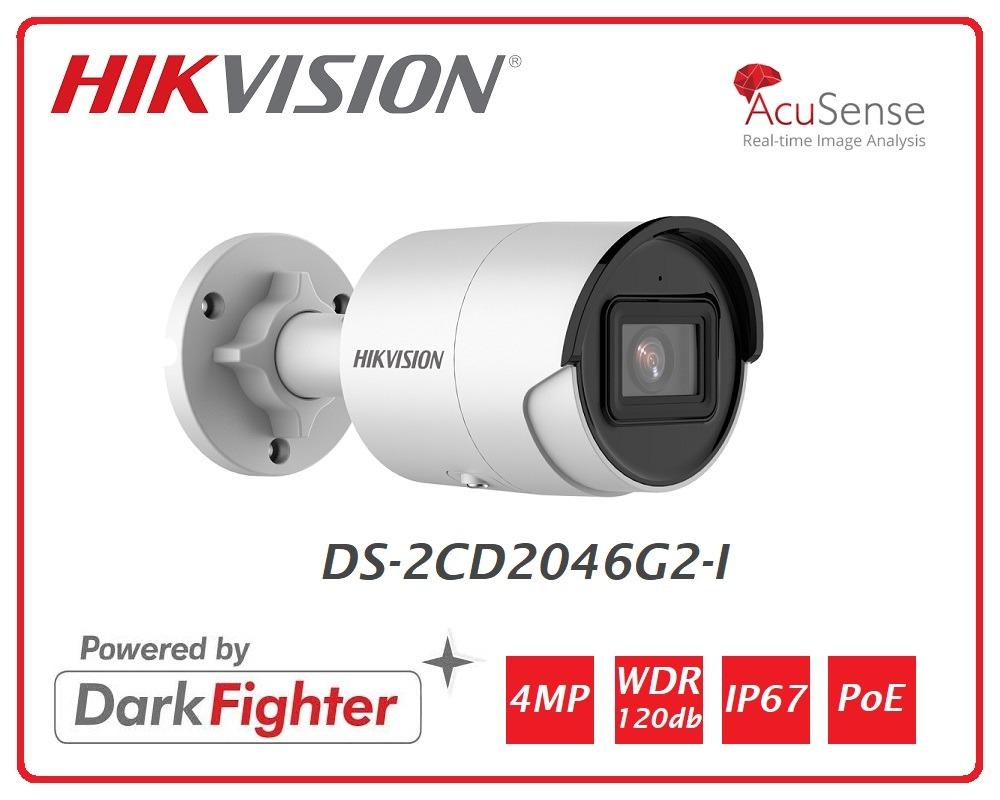 Telecamera Easy IP 4.0 AcuSense 4MP Bullet Ottica fissa (2.8mm) DS-2CD2046G2-I