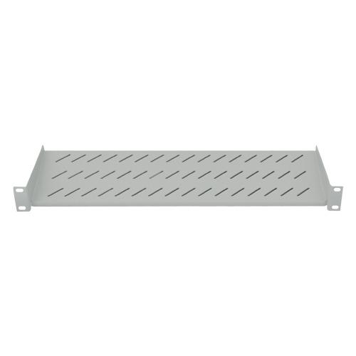 Ripiano per armadio 19″ 1 unita' profondita' 150 mm. (universale) colore grigio