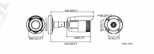 Telecamera Turret EASY IP 1.0 4K  DS-2CD1683G1-IZS Hikvision
