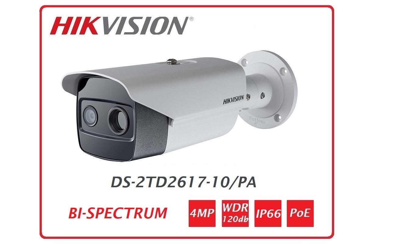 Telecamera Termica e Bi-Spectrum IP Bullet 160*120 10mm DS-2TD2617-10/PA
