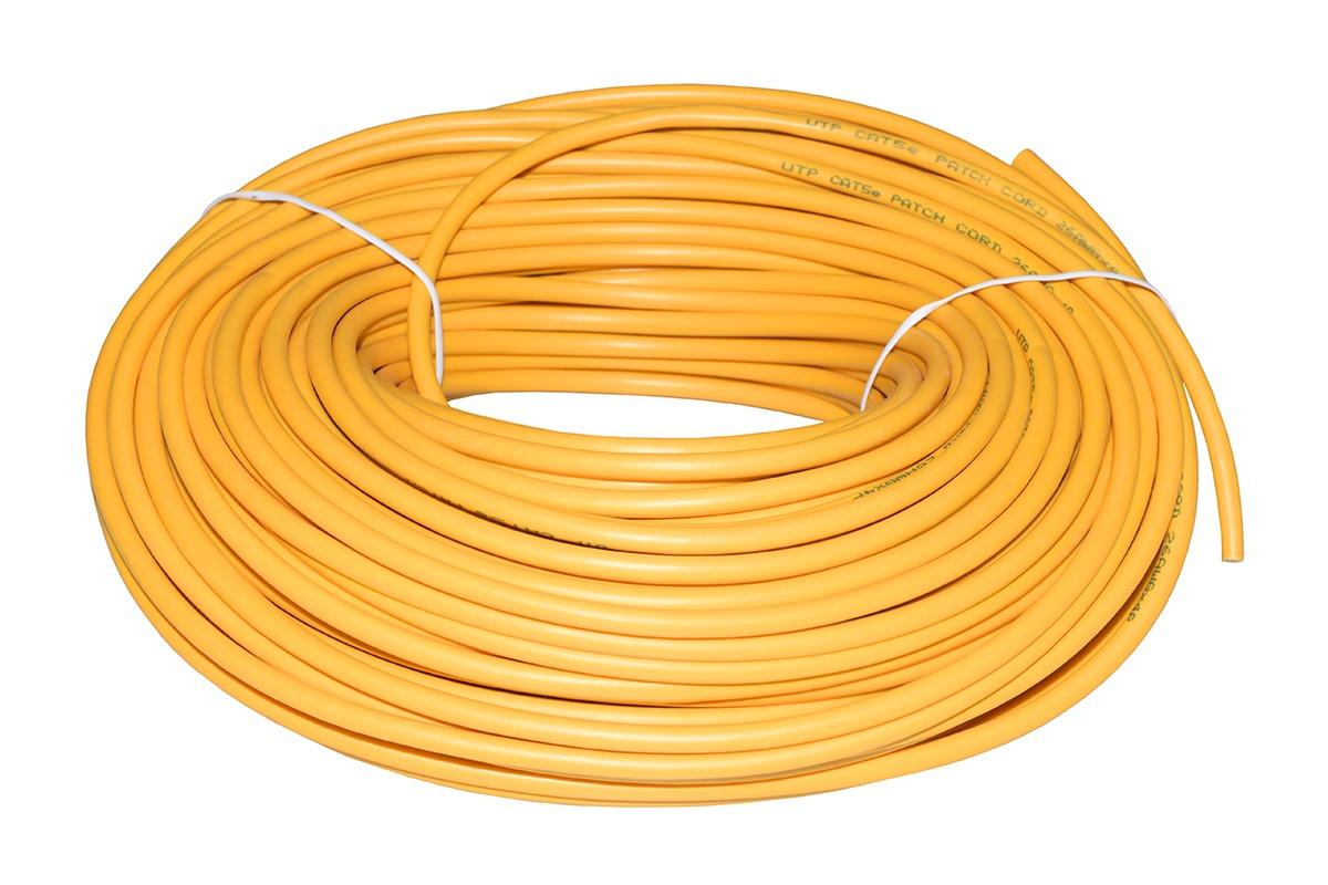 Matassa 50 metri cavo rete giallo u-utp non schermato flessibile