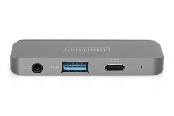 Docking station digitus usb-c<sup>™</sup> 4 porte hdmi, usb-a, usb-c pd, audio 3,5mm