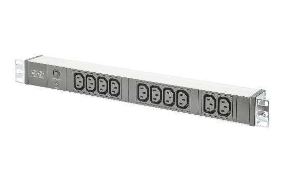 Multipresa 10 prese femmina iec c13 1 unita' 19″ per armadi rack