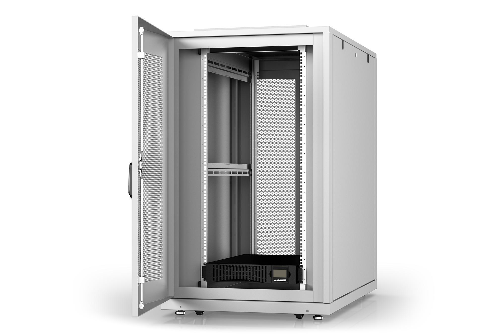 Armadio rack 26u 600×1000 con gruppo di continuita' online 3000va/, multipresa