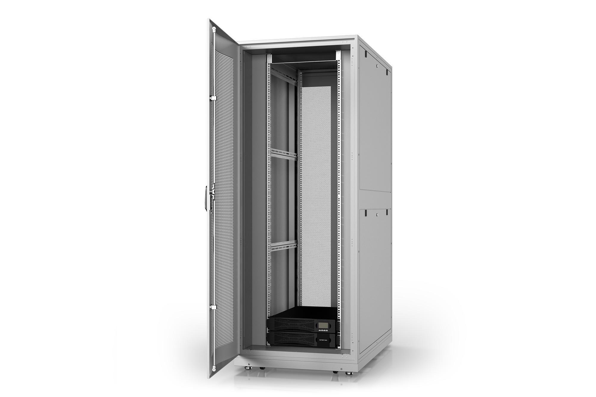 Armadio rack 42u 600×1000 con gruppo di continuita' online 6000va/, multipresa smart