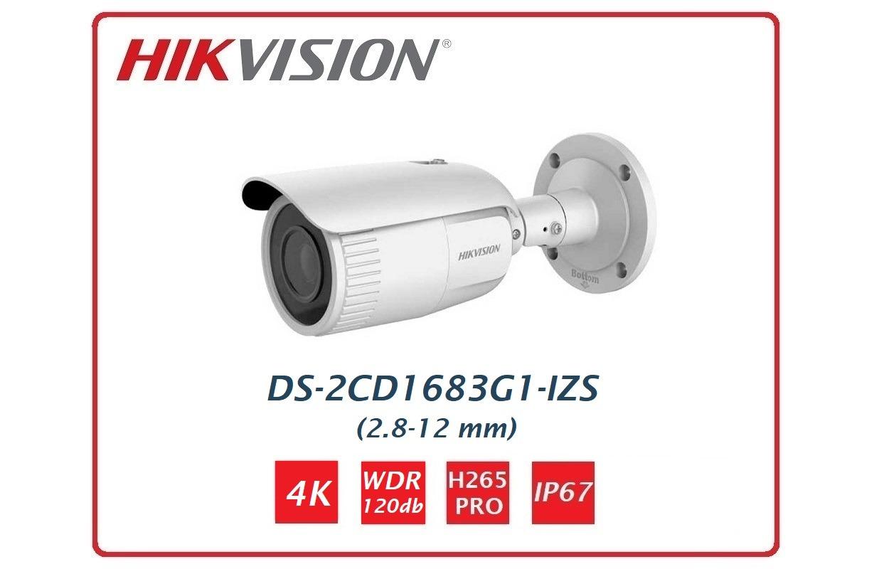 Telecamera Easy IP 1.0+ Bullet 4k DS-2CD1683G1-IZS Hikvision