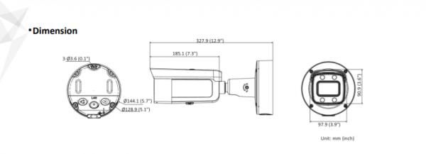 Telecamera Hikvision Easy IP 4.0 ColorVu AcuSense 4MP Bullet Varifocal (3.6-9mm) DS-2CD2647G2-LZS