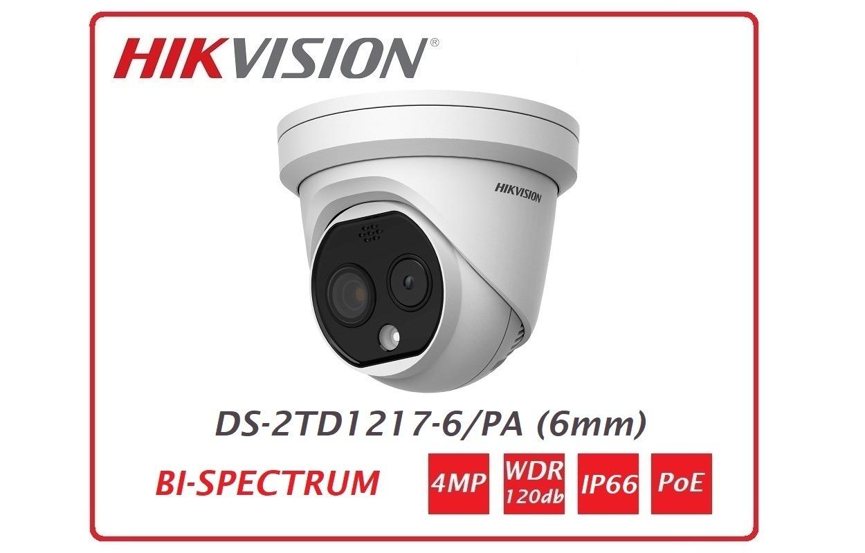 Telecamera Termica e Ottica Hikvision DS-2TD1217-6/PA